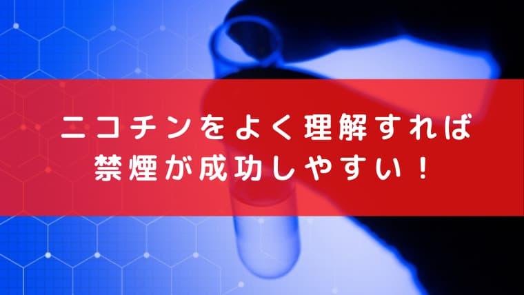 ニコチンをよく理解すれば禁煙が成功しやすい!